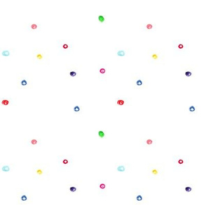 Scattered watercolor polka dot pattern || hand drawn for nursery, kids