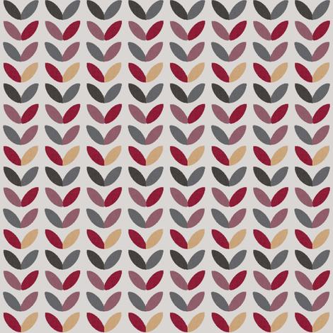 Fair Isle Leaves 1 fabric by anniedeb on Spoonflower - custom fabric