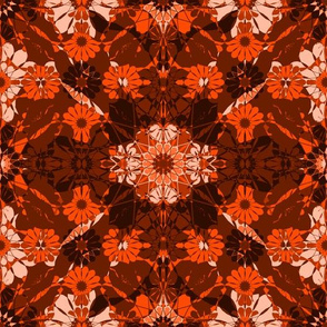 flowery abstract in red - large -
