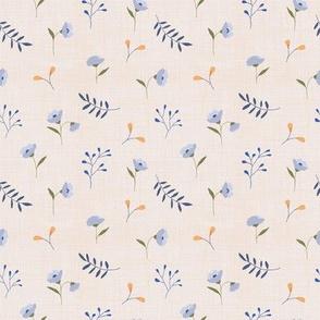 Linen meadow floral blues