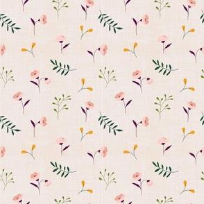 Linen meadow floral berries