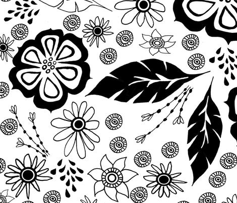 Black and White design fabric by lovebirdt on Spoonflower - custom fabric