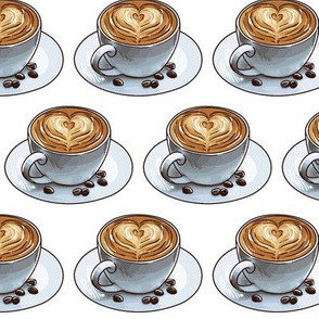 Cafe Latte Heart Art