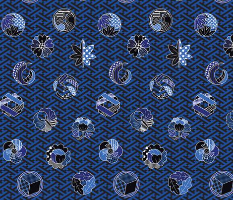 CHINOISERIE BLUES fabric by elphbatt on Spoonflower - custom fabric