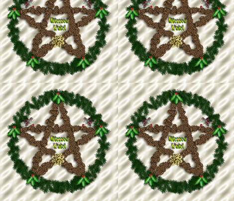 yule card fabric by dgd_media on Spoonflower - custom fabric