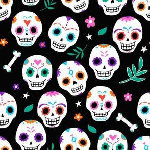 Sugar Skulls in Black