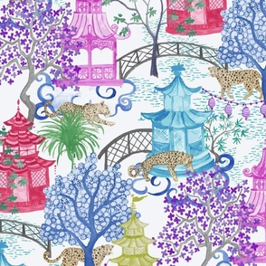MULTI leopard and pagoda scenic