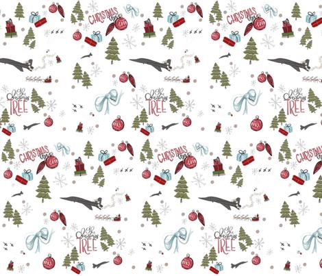 christmas T38 on white fabric by jennikainoriginals on Spoonflower - custom fabric