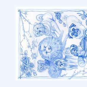 Chinoiserie Blue & White Tea Towel - Paige Holsapple