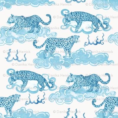 Leopard Clouds aqua