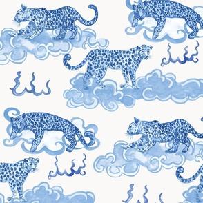 Leopard Clouds navy