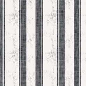 Bold Black Stripe Distressed
