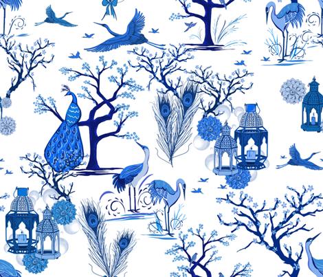 Cobalt Arbre fabric by jacquelynbizzottodesign on Spoonflower - custom fabric