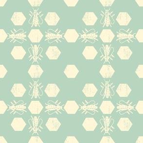 Blue Bee Pattern