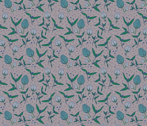 Lavender Botanical fabric by little_luck_designs on Spoonflower - custom fabric