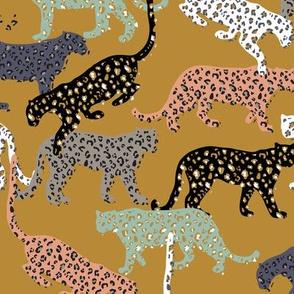 africa africa - leopards - gold - mini