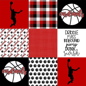 Basketball//Cardinals - Wholecloth Cheater Quilt