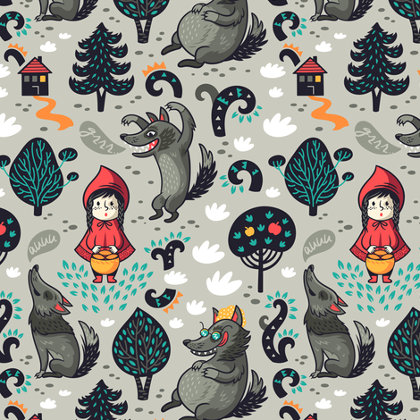 red riding hood fabric by penguinhouse on Spoonflower - custom fabric