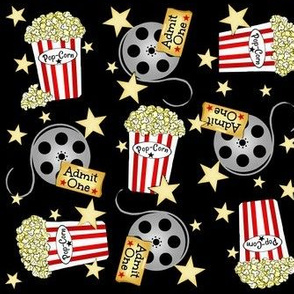 VIP Movie Night / Theater Pop-Corn sm. ditsy
