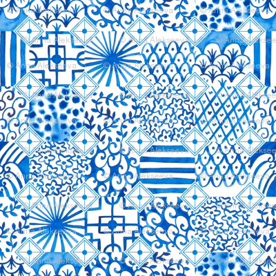 White and blue Chinese porcelain