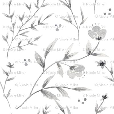 Chinoiserie Blue Wildflowers
