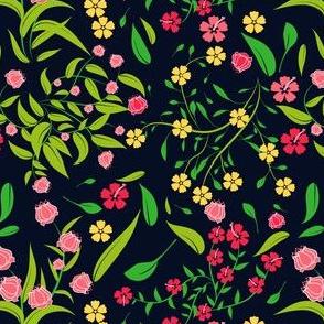 Floral Design black