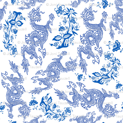 blue Dragon pattern larger