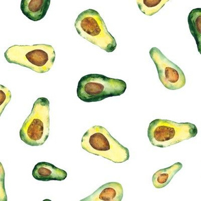 Avocado vibes || watercolor pattern for kitchen