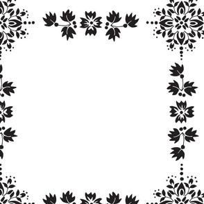 Black Grid Flowers