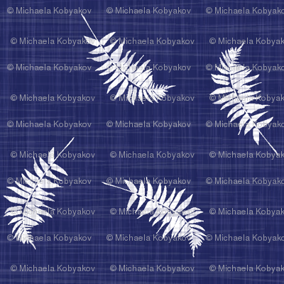 fern on navy texture