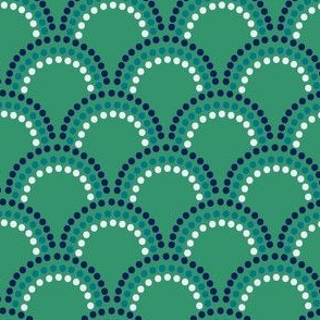 Scallop Dots in Preppy Green