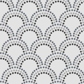 Scallop Dots in Light Grey