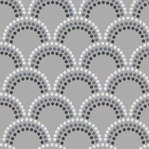 Scallop Dots in Greys