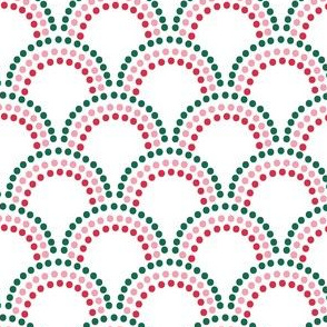 Scallop Dots in peppermint stick