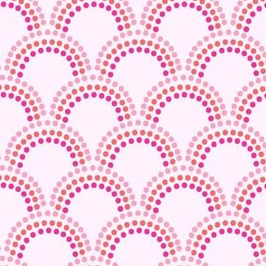 Scallop Dots in Pinks and Orange