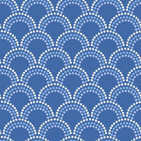 Scallop Dots in Cornflower Blues fabric by danika_herrick on Spoonflower - custom fabric