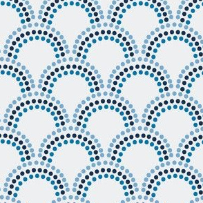 Scallop Dots in Blues
