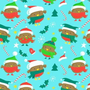 Christmas Red Robins