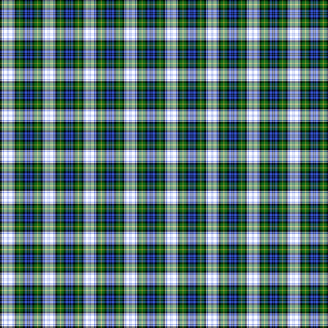 "Gordon dress tartan, modern colors, 1"" fabric by weavingmajor on Spoonflower - custom fabric"