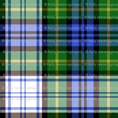 "Gordon dress tartan, modern colors, 2"""