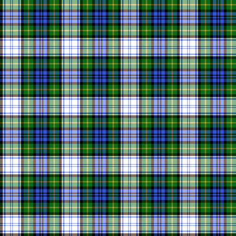 "Gordon dress tartan, modern colors, 2""  fabric by weavingmajor on Spoonflower - custom fabric"