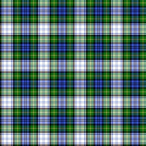 Gordon dress tartan, modern colors, 2""