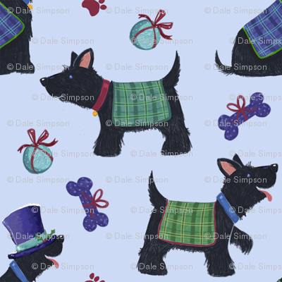 Scottish Scottie Dogs & Tartan Coats
