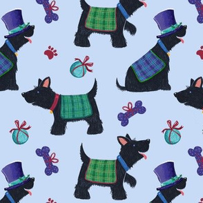Scottish Scottie Dogs & Tartan Coats