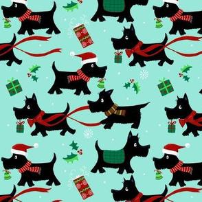 Christmas Scottie Dogs