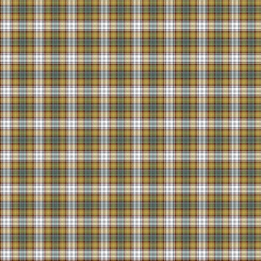Gordon dress tartan, weathered colors, 1""