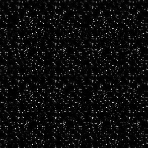 "8"" White Dots Black Background"