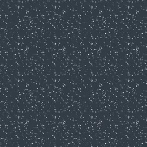 """8"""" White Dots Dark Steel Blue Background"""