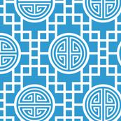 Chinese geometrics Sky Blue Large