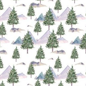 "4"" Winter Tree Scene White"